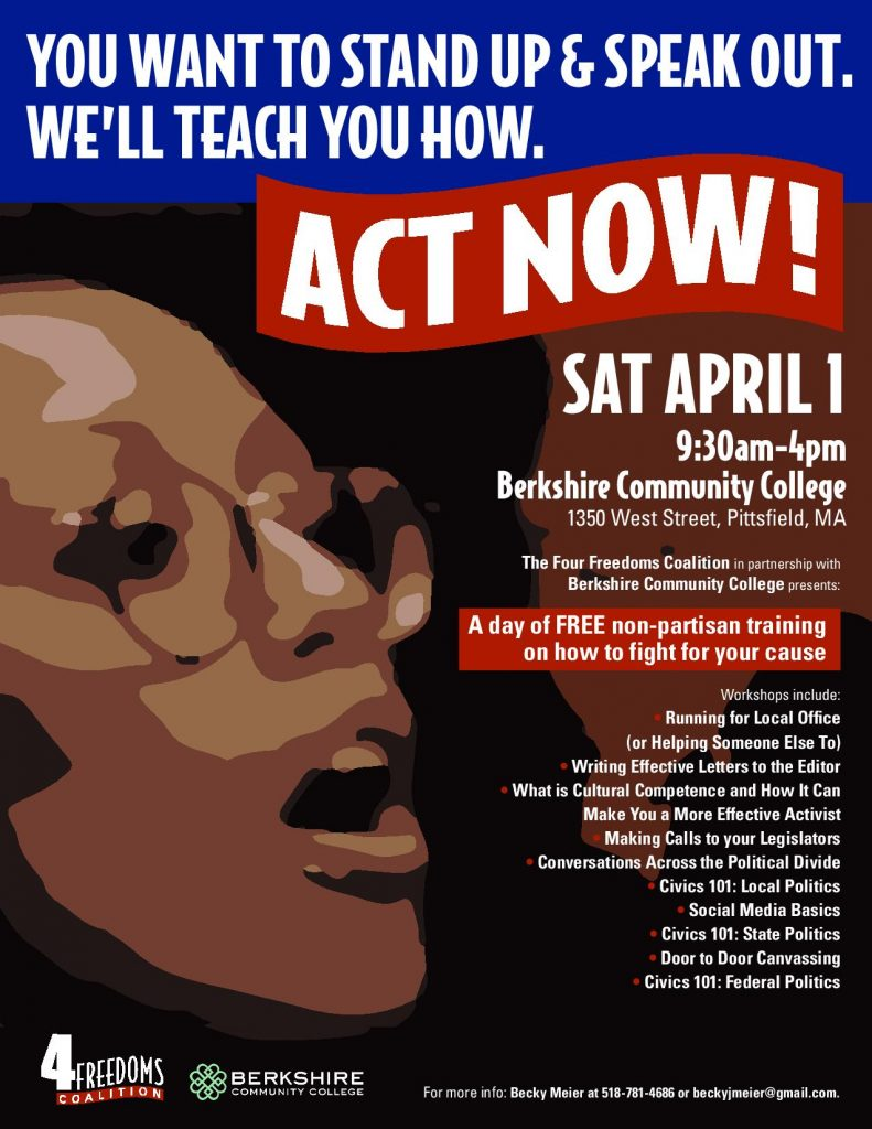 Act Now! Workshops – 4 Freedoms Coalition